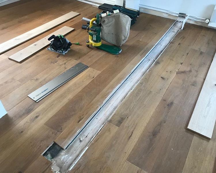 houten vloer schuren en reparatie