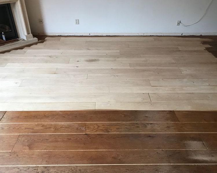 houten vloer schuren en olien